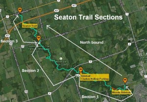 Seaton Trail Sections Map