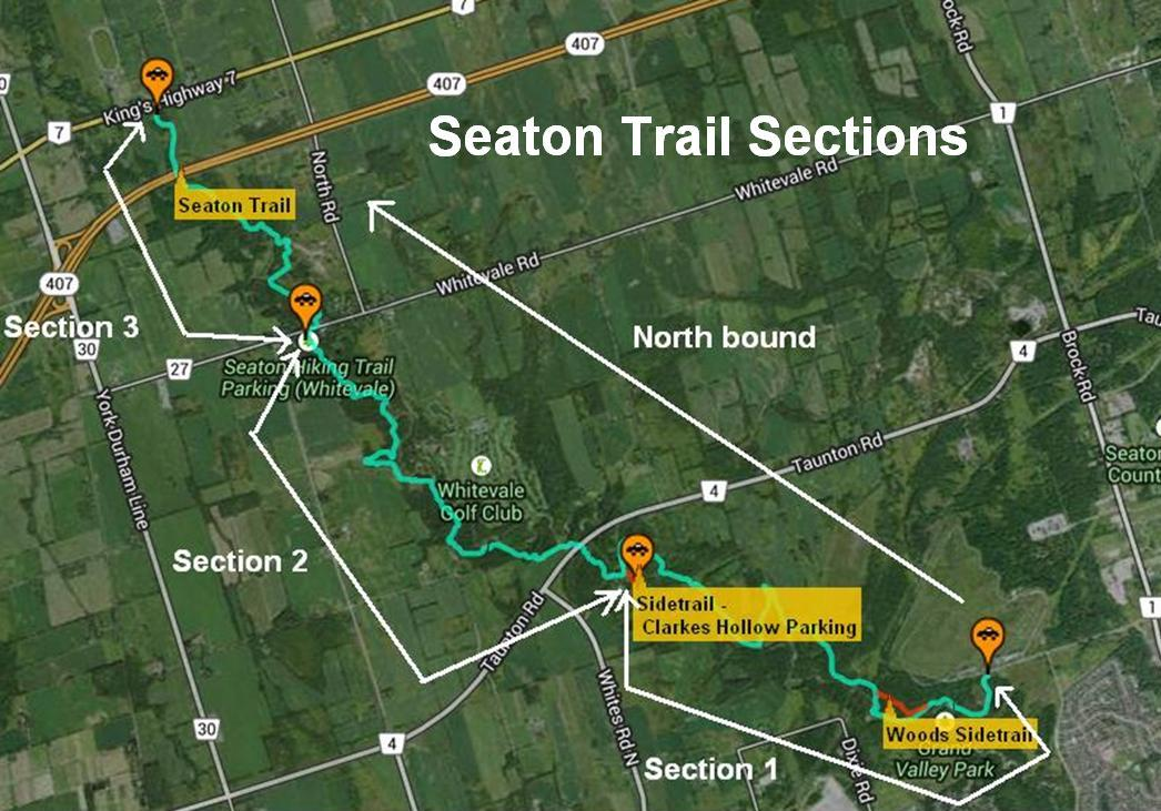 maps of the seaton trail