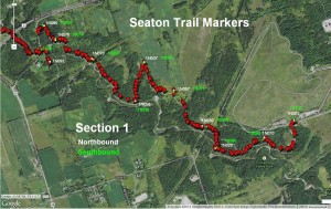 Section 1 Trail Marker Locations