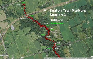 Section 3 Trail Marker Locations